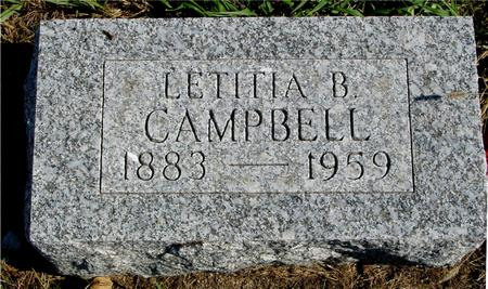 CAMPBELL, LETITIA B. - Sac County, Iowa | LETITIA B. CAMPBELL
