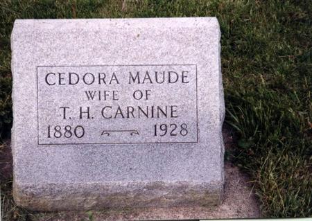 RICHESON CARNINE, CEDORA  MAUDE - Sac County, Iowa | CEDORA  MAUDE RICHESON CARNINE