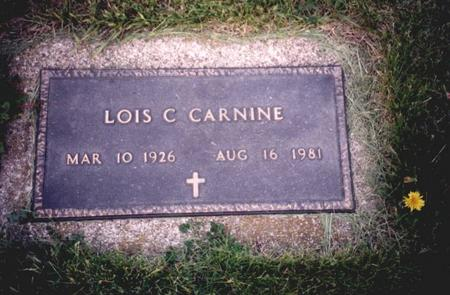 LINDQUIST CARNINE, LOIS  C, - Sac County, Iowa | LOIS  C, LINDQUIST CARNINE