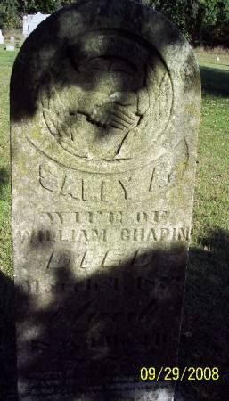 CHAPIN, SALLY A - Sac County, Iowa   SALLY A CHAPIN