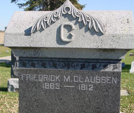 CLAUSSEN, FRIEDRICK M. - Sac County, Iowa | FRIEDRICK M. CLAUSSEN