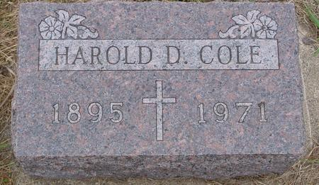 COLE, HAROLD D. - Sac County, Iowa | HAROLD D. COLE
