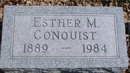 CONQUIST, ESTHER M. - Sac County, Iowa | ESTHER M. CONQUIST