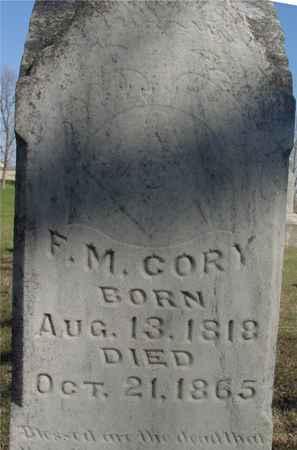 CORY, F. M. - Sac County, Iowa   F. M. CORY