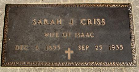 MEANS CRISS, SARAH J. - Sac County, Iowa | SARAH J. MEANS CRISS