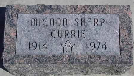 CURRIE, MIGNON - Sac County, Iowa | MIGNON CURRIE