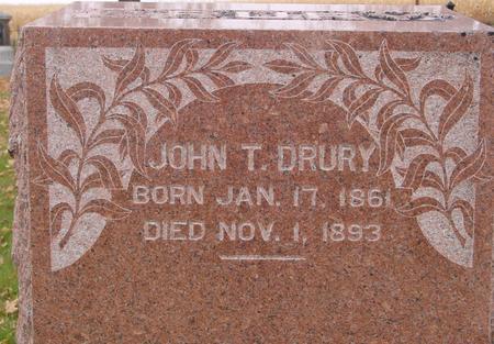 DRURY, JOHN T. - Sac County, Iowa | JOHN T. DRURY