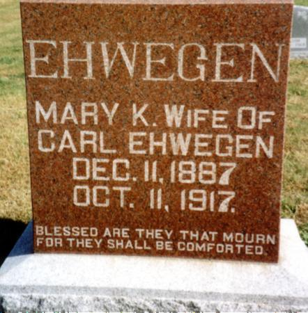 EHWEGEN, MARY K. - Sac County, Iowa | MARY K. EHWEGEN