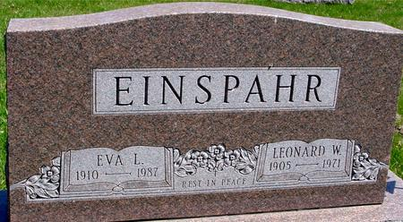EINSPAHR, LEONARD & EVA - Sac County, Iowa | LEONARD & EVA EINSPAHR
