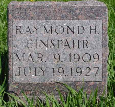 EINSPAHR, RAYMOND H. - Sac County, Iowa | RAYMOND H. EINSPAHR