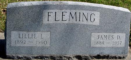 FLEMING, JAMES D. & LILLIE - Sac County, Iowa   JAMES D. & LILLIE FLEMING