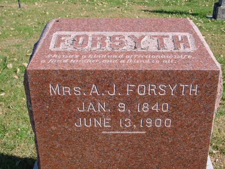 FORSYTH, MRS. A. J. - Sac County, Iowa | MRS. A. J. FORSYTH