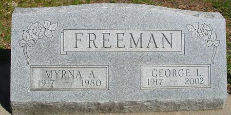 FREEMAN, GEORGE & MYRNA A. - Sac County, Iowa | GEORGE & MYRNA A. FREEMAN