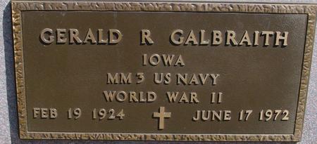GALBRAITH, GERALD R. - Sac County, Iowa | GERALD R. GALBRAITH