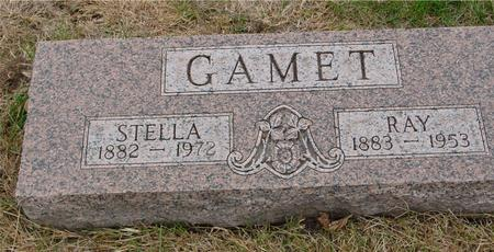 GAMET, RAY & STELLA - Sac County, Iowa | RAY & STELLA GAMET