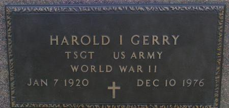 GERRY, HAROLD I. - Sac County, Iowa | HAROLD I. GERRY