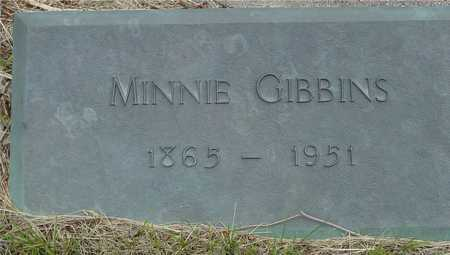 GIBBINS, MINNIE - Sac County, Iowa | MINNIE GIBBINS