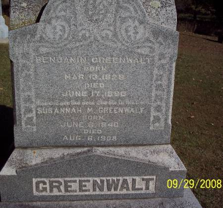 GREENWALT, BENJAMIN - Sac County, Iowa | BENJAMIN GREENWALT