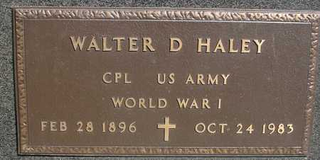HALEY, WALTER D. - Sac County, Iowa | WALTER D. HALEY