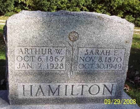 HAMILTON, ARTHUR W - Sac County, Iowa | ARTHUR W HAMILTON
