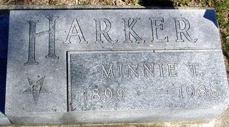 HARKER, MINNIE T. - Sac County, Iowa | MINNIE T. HARKER