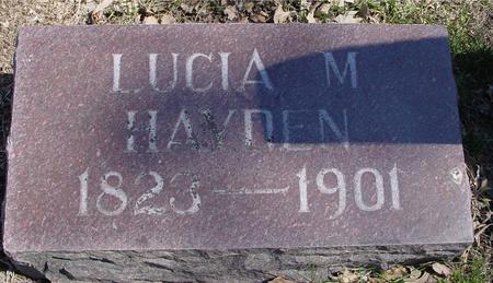 HAYDEN, LUCIA M. - Sac County, Iowa | LUCIA M. HAYDEN