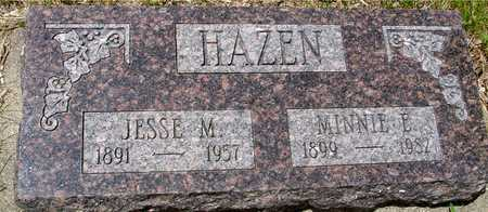 HAZEN, JESSE & MINNIE E. - Sac County, Iowa | JESSE & MINNIE E. HAZEN