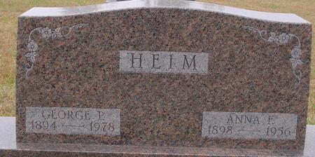 HEIM, GEORGE & ANNA - Sac County, Iowa | GEORGE & ANNA HEIM