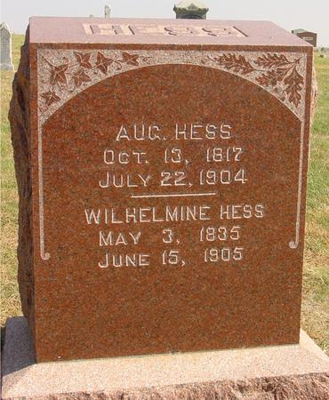 HESS, AUG. & WILHELMINE - Sac County, Iowa | AUG. & WILHELMINE HESS