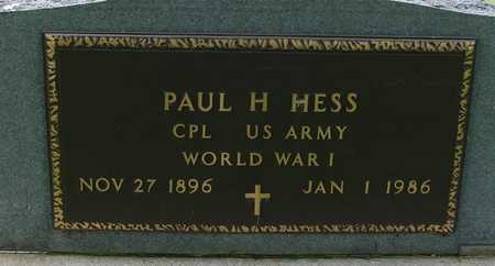 HESS, PAUL H. - Sac County, Iowa | PAUL H. HESS