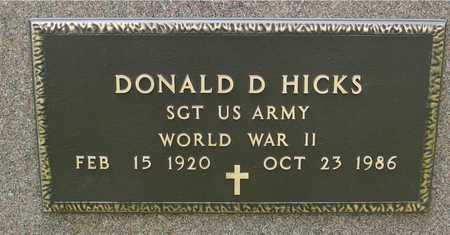 HICKS, DONALD D. - Sac County, Iowa | DONALD D. HICKS