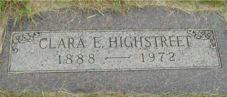 HIGHSTREET, CLARA E. - Sac County, Iowa   CLARA E. HIGHSTREET