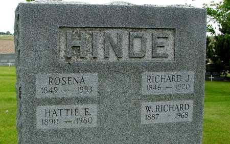 HINDE, RICHARD & ROSENA - Sac County, Iowa | RICHARD & ROSENA HINDE