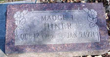 HINER, MADGE I. - Sac County, Iowa | MADGE I. HINER