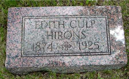 CULP HIRONS, EDITH - Sac County, Iowa | EDITH CULP HIRONS