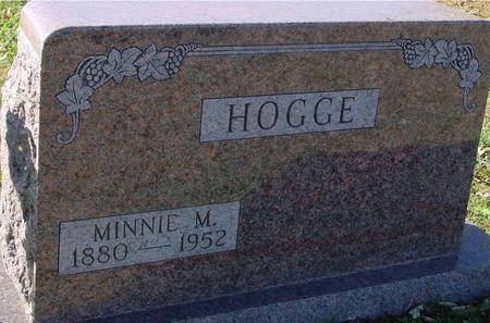 HOGGE, MINNIE M. - Sac County, Iowa | MINNIE M. HOGGE