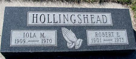 HOLLINGSHEAD, ROBERT E.  & IOLA M. - Sac County, Iowa | ROBERT E.  & IOLA M. HOLLINGSHEAD