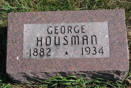 HOUSMAN, GEORGE - Sac County, Iowa | GEORGE HOUSMAN