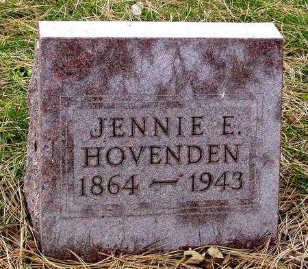 HOVENDEN, JENNIE E. - Sac County, Iowa | JENNIE E. HOVENDEN