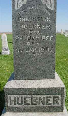 HUEBNER, CHRISTIAN - Sac County, Iowa | CHRISTIAN HUEBNER