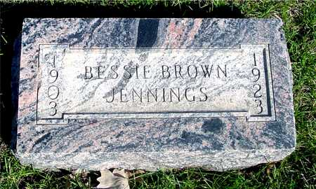 BROWN JENNINGS, BESSIE - Sac County, Iowa | BESSIE BROWN JENNINGS