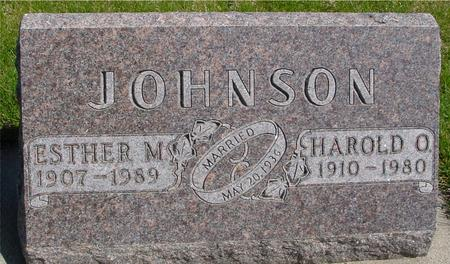 JOHNSON, HAROLD & ESTHER - Sac County, Iowa | HAROLD & ESTHER JOHNSON