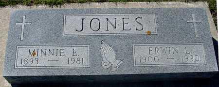 JONES, ERWIN L. & MINNIE E. - Sac County, Iowa | ERWIN L. & MINNIE E. JONES