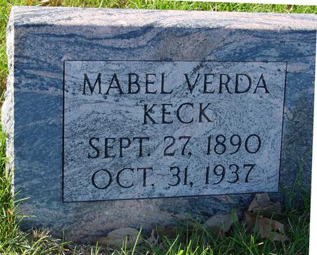 KECK, MABEL VERDA - Sac County, Iowa | MABEL VERDA KECK