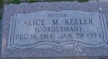 KEELER, ALICE M. - Sac County, Iowa | ALICE M. KEELER