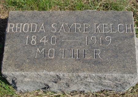 SAYRE KELCH, RHODA - Sac County, Iowa | RHODA SAYRE KELCH