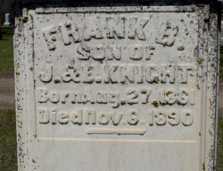 KNIGHT, FRANK B. - Sac County, Iowa | FRANK B. KNIGHT