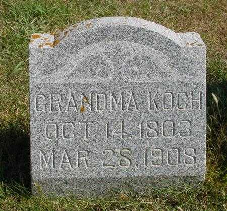 KOCH, GRANDMA - Sac County, Iowa | GRANDMA KOCH