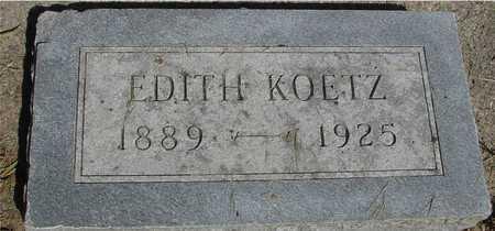 KOETZ, EDITH - Sac County, Iowa | EDITH KOETZ