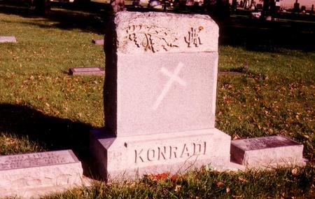 KONRADI, MONUMENT, JOHANN & ANNA - Sac County, Iowa | MONUMENT, JOHANN & ANNA KONRADI